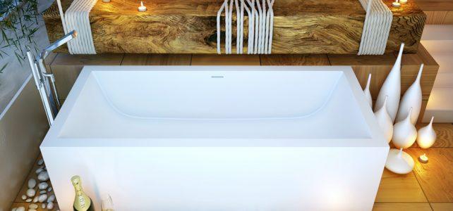 Amazing Red Wood Bath Interior